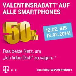 Valentinsrabatt auf alle Smartphones